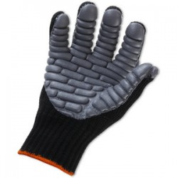 Ergodyne - 16453 - Ergodyne Medium Black ProFlex Rubber Full Finger Anti-Vibration Gloves With Elastic Cuff