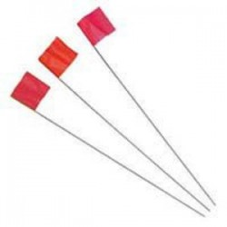 IRWIN Industrial Tool - 2034207 - 2.5x3.5x21 Glo Red Stake Flag