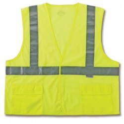 Ergodyne - 21147 - GloWear 8220HL Class 2 Lime Green Safety Vest - 2X/3X GloWear 8220HL Class 2 Lime Green Safety Vest - 2X/3X