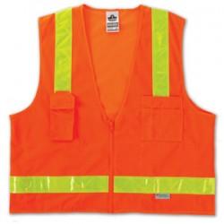 Ergodyne - 21433 - Glowear 8250zhg Cls 2 Surv Hi-gloss Vest Or S/m