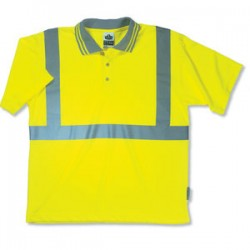 Ergodyne - 21642 - GloWear 8295 Lime Green Class 2 Polo Shirt - Small