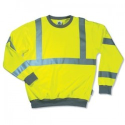 Ergodyne - 21677 - GloWear 8397 Class 3 Lime Green Sweatshirt - 3XL GloWear 8397 Class 3 Lime Green Sweatshirt - 3XL