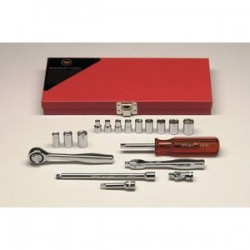 Wright Tool - 218 - 18pc. 6pt.std & 8pt. Stdchrome Sock