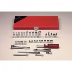Wright Tool - 236 - 1/4 In. Drive 34 pc. 6, 8, & 12 pt Deep Sockets and Socket Bits Set