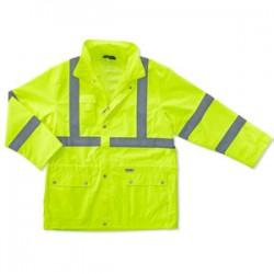 Ergodyne - 24322 - Glowear 8365 Class 3 Rain Jacket Lime Small