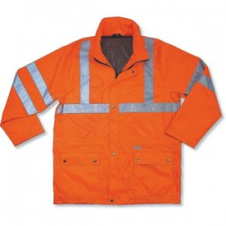 Ergodyne - 24324 - Glowear 8365 Class 3 Rain Jacket Lime Large