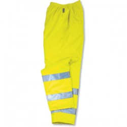 Ergodyne - 24454 - Ergodyne Large Hi-Viz Lime GloWear 8925 Polyester Class E Thermal Pants With Drawstring Elastic Closure And 3M Scotchlite Level 2 Reflective Tape