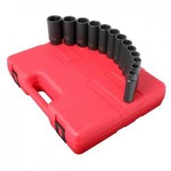 Sunex Tools - 2651 - Sunex Tools 1/2 Dr. 13 Pc. SAE Deep Impact Socket Set - Chrome Molybdenum - Heavy Duty