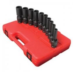 Sunex Tools - 2659 - Sunex Tools 1/2 Dr. 10 Pc. SAE Universal Deep Impact Socket Set - Chrome Molybdenum - Heavy Duty
