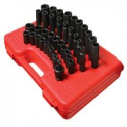 Sunex Tools - 2669 - Sunex Tools 1/2 Dr. 39 Pc. Metric Master Impact Socket Set - Chrome Molybdenum, Alloy Steel