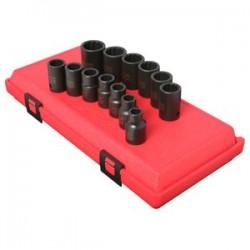 Sunex Tools - 2679 - Sunex Tools 1/2 Dr. 12 Pt. 13 Pc. Metric Impact Socket Set - Chrome Molybdenum - Heavy Duty