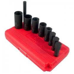 Sunex Tools - 2840 - SUNEX 2840 1/2 Dr. 9 Pc. Cr-Mo Alloy Steel Wheel Lock Removal Impact Socket Set