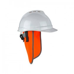 Ergodyne - 29061 - Ergodyne Orange Glowear 8006 Polyester Solid Fabric Neck Shade With Hook And loop Closure