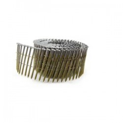 B&C Eagle - 314X120HDRC - (2.5M) 3-1/4 In. x.120 Wire Collated Hot Dipped Galvanized Ring Shank Coil Framing Nails, 2, 500/Box