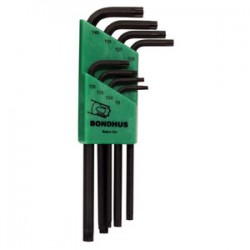 Bondhus - 31834 - Set 8 Star L-wrenches -long Arm Style - T9-t40