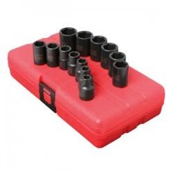 Sunex Tools - 3358 - Sunex Tools 3/8 Dr. 13 Pc. Metric Impact Socket Set - Chrome Molybdenum