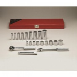 Wright Tool - 338 - 3/8 In. Drive 21 pc. 12 Pt Std and Deep Socket Set