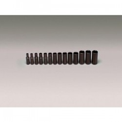 Wright Tool - 358 - Wright Tool 3/8' X 6mm - 19mm 14 Piece 6 Point Deep Metric Impact Socket Set (Includes Rail And (14) Clips), ( Each )