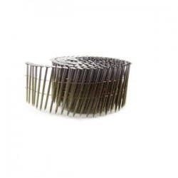 B&C Eagle - 3X131C - (2.5M) 3 In. x .131 Wire Collated Smooth Bright 15 Degree Coil Framing Nails, 2, 500/Box