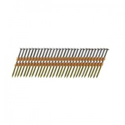 B&C Eagle - 412X148R/22 - 4-1/2 In. x .148 Full Round Head Plastic Collated Ring Bright Framing Nails, 1, 800/Box