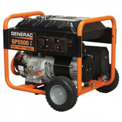 Generac - 5945 - Generac 5945 Generator, Portable, 5500W, 120/240VAC, 1PH, Recoil Start, Gas, Limited Quantities Available