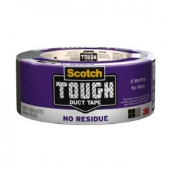 3M - 2420 - Scotch Tough No-residue Duct Tape - 1.88 Width x 60 ft Length - 3 Core - 1 Roll - Silver