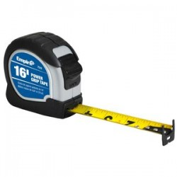 "Empire Level - 7516 - Empire Level 3/4"" X 16' Yellow ABS Case Nylon Coated Steel Blade Power Grip Measuring Tape With Triple Riveted, Reinforced Dual End Hook, Belt Clip And Slide Lock"