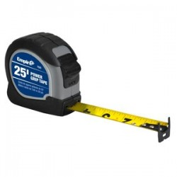 "Empire Level - 7525 - 1""x25' Black Power Griptape Measure"