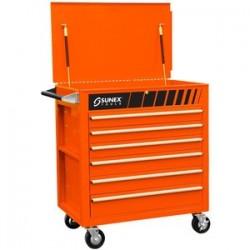 Sunex Tools - 8057O - SUNEX 8057O Full Drawer Professional Duty Service Cart Fully Assembled - Orange