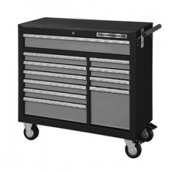 GearWrench - 83157 - 42 In. 11 Drawer Roller Cabinet, XL Series - Black/Silver