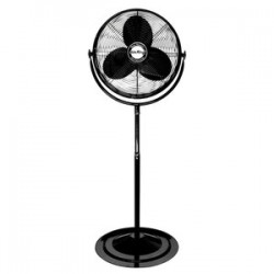 Air King - 9420 - Air King 9420 - 20 1/6 HP Pedestal Fan - 20 Diameter - 3 Speed - Adjustable Height, Adjustable Tilt Head - 64 Height x 23.3 Width - Steel Blade, Steel Guard, Steel Mount - Black