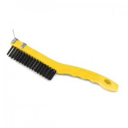 Rubbermaid - 9B4200GRAY - Wire Brush with Scraper, Short Angular Handle