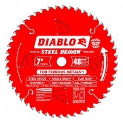 Diablo Tools - D0748FM - Diablo D0748FM 7-Inch 48-TPI Steel Demon Ferrous Metal Cutting Saw Blade