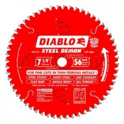 Diablo Tools - D0756F - Diablo D0756F 7-1/4-Inch 56-TPI Steel Demon Ferrous Metal Cutting Saw Blade