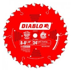 Diablo Tools - D0824X - Diablo D0824X 8 to 8-1/4-Inch 24-TPI Carbide Framing Wood Cutting Saw Blade
