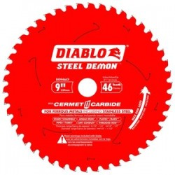 Diablo Tools - D0946CF - 9 Carbide Metal Cutting Circular Saw Blade, Number of Teeth: 46