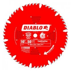 Diablo Tools - D1050X - 10 Carbide Wood Cutting Circular Saw Blade, Number of Teeth: 50