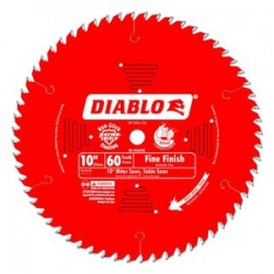 Diablo Tools - D1060X - 10 Carbide Wood Cutting Circular Saw Blade, Number of Teeth: 60