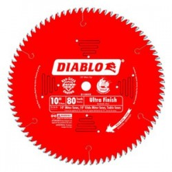 Diablo Tools - D1080X - 10 Carbide Wood Cutting Circular Saw Blade, Number of Teeth: 80