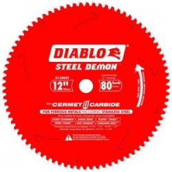 Diablo Tools - D1280CF - 12 Carbide Metal Cutting Circular Saw Blade, Number of Teeth: 80