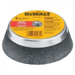 Dewalt - DW4964 - DeWALT DW4964 6'' x 2'' x 5/8''-11 Metal Grinding Steel Backed Cup Wheel