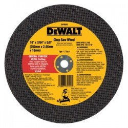 "Dewalt - DW8005 - 10""x7/64""x5/8"" Generalpurpose Chop Saw Wheel"