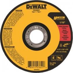 Dewalt - DWA8062L - 4-1/2 Type 1 Ceramic Abrasive Cut-Off Wheel, 7/8 Arbor, 1/16-Thick, 13, 300 Max. RPM