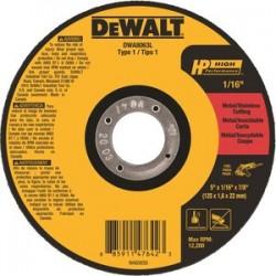 Dewalt - DWA8063L - 5 Type 1 Ceramic Abrasive Cut-Off Wheel, 7/8 Arbor, 1/16-Thick, 12, 200 Max. RPM