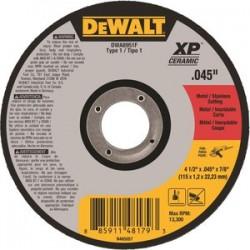Dewalt - DWA8951F - 4-1/2 Type 1 Ceramic Abrasive Cut-Off Wheel, 7/8 Arbor, 0.045-Thick, 13, 300 Max. RPM