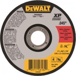 Dewalt - DWA8952F - 5 Type 1 Ceramic Abrasive Cut-Off Wheel, 7/8 Arbor, 0.040-Thick, 12, 200 Max. RPM