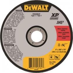 Dewalt - DWA8953F - 6 Type 1 Ceramic Abrasive Cut-Off Wheel, 7/8 Arbor, 0.040-Thick, 10, 100 Max. RPM