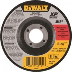 Dewalt - DWA8957F - 4-1/2 Type 27 Ceramic Abrasive Cut-Off Wheel, 7/8 Arbor, 0.040-Thick, 13, 300 Max. RPM