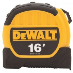 Dewalt - DWHT36105 - 16 ft. Steel SAE Tape Measure, Yellow/Black