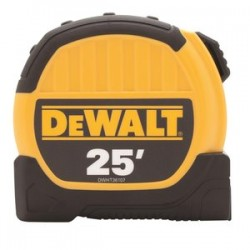 Dewalt - DWHT36107 - 25 ft. Steel SAE Tape Measure, Yellow/Black